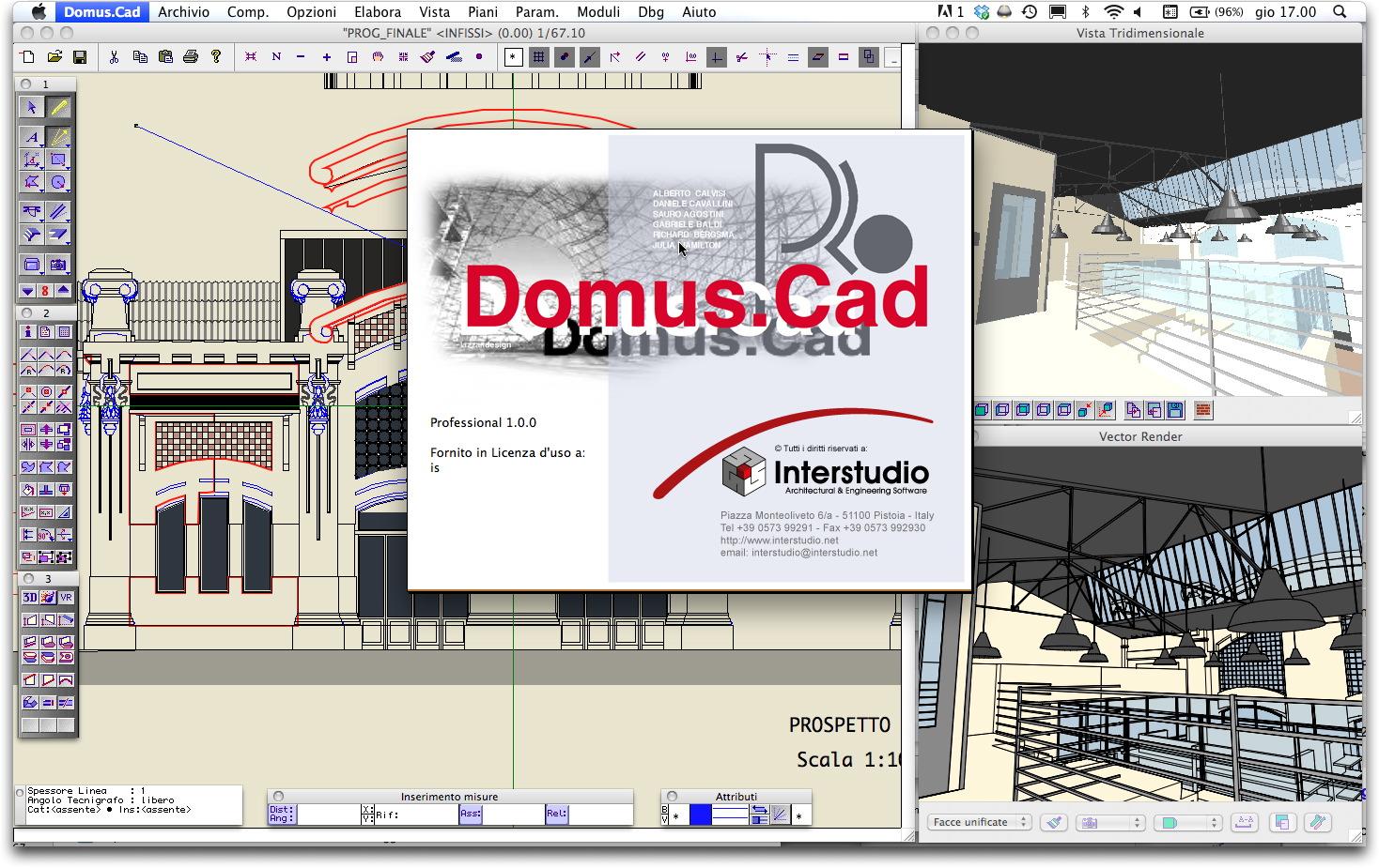 Interstudio domus cad pro cad bim architettonico 3d for Programma per 3d interni