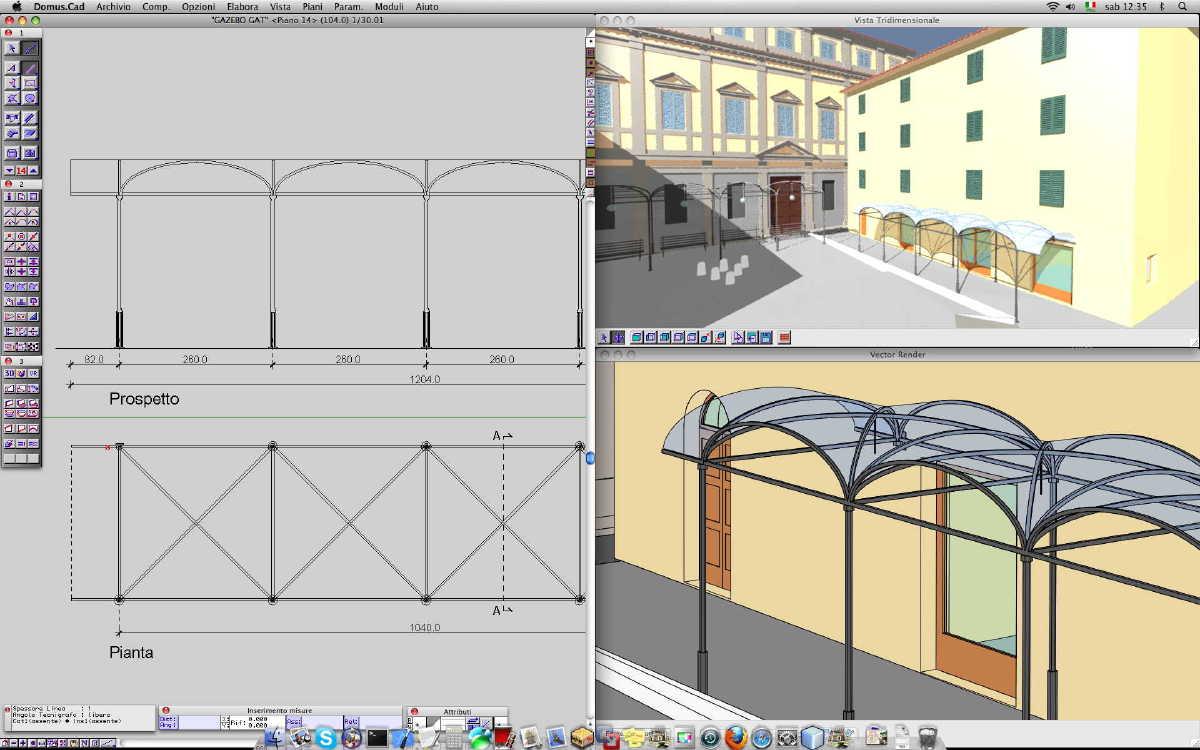 Domus cad pro 3 cad bim architettonico 3d interstudio - Finestre in pianta dwg ...