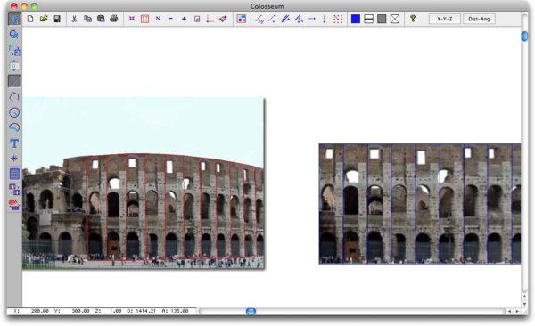 Raddrizzamento della superficie del Colosseo