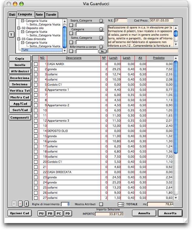 programma computo metrico