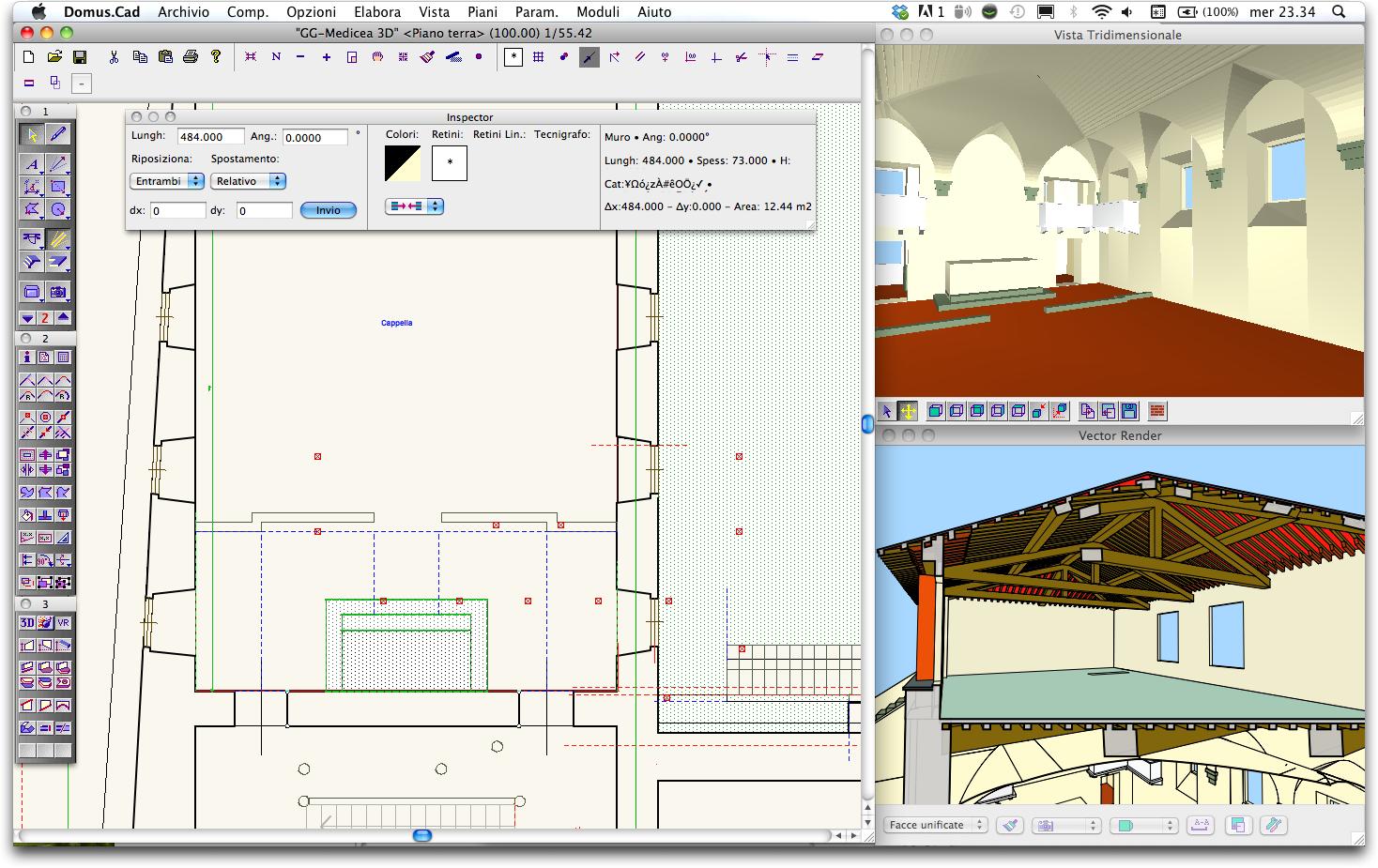 Domus cad pro 3 cad bim architettonico 3d interstudio - Programma per progettare casa 3d ...